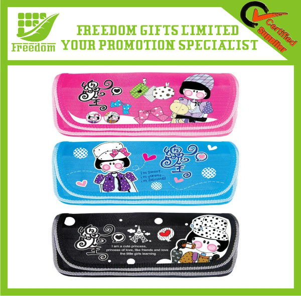 Promotional Logo Printed Cheap Kids Pencil Case
