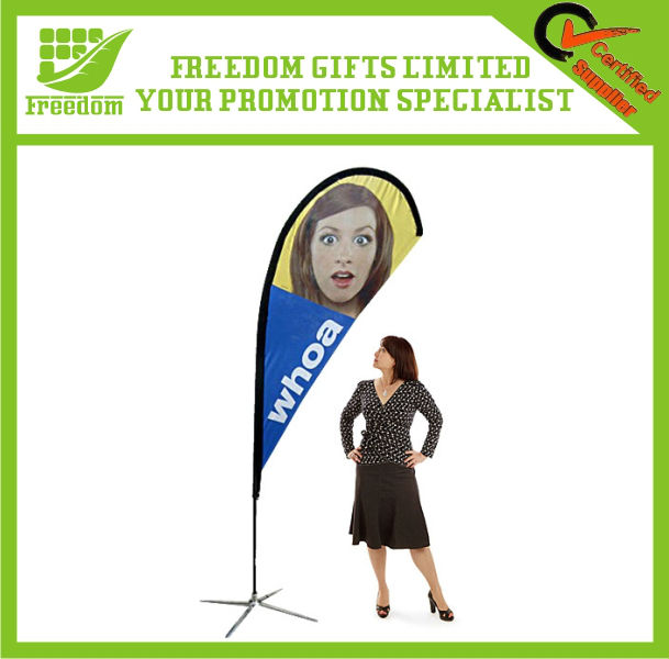 Full Color Logo Printed Promotional Teardrop Banner