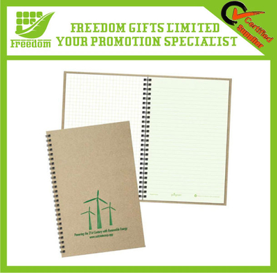 Logo Branded Promotional Recycled Spiral Notepad