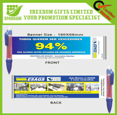 Business Promotional Logo Flag Pen