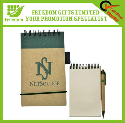 Recyclable Promotional Logo Branded Eco Notepad