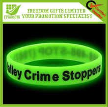 Customized Design Glowing Silicone Wristband
