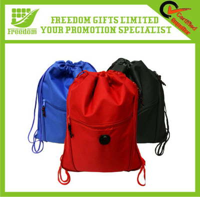 High Quality Polyester 210D Drawstring Bag With Zipper
