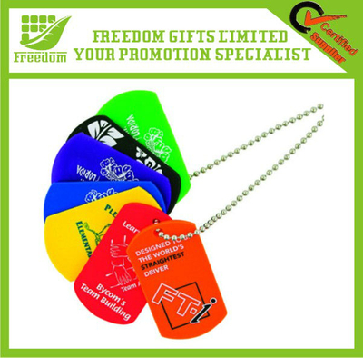 Customized Logo Printed Rubber Dog Tag