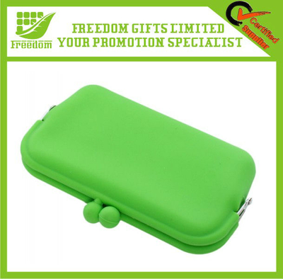 Fashionable Silicone Purse With Printing Logo