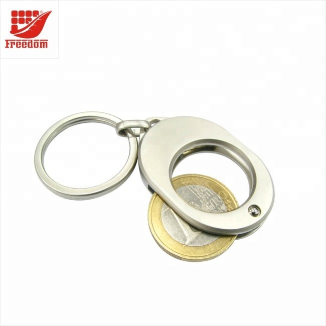 Logo Printed High Quality Metal Coin Keychain
