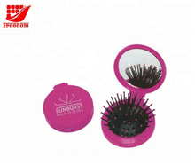 Plastic Printed Custom Hair Brush Comb Mirror Set