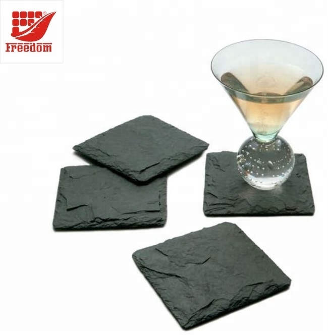 Bar Hot selling Logo Customized Slate Coaster