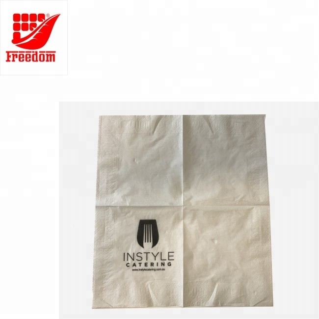 Hot Selling Custom Logo Printed Eco-Friendly Paper Napkins