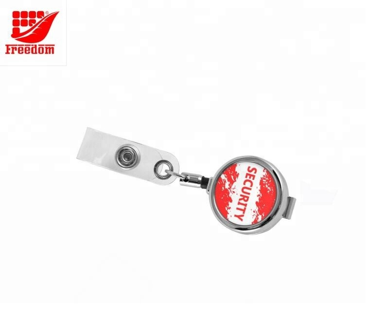 Promotional Customized Badge Reel With Metal Clip