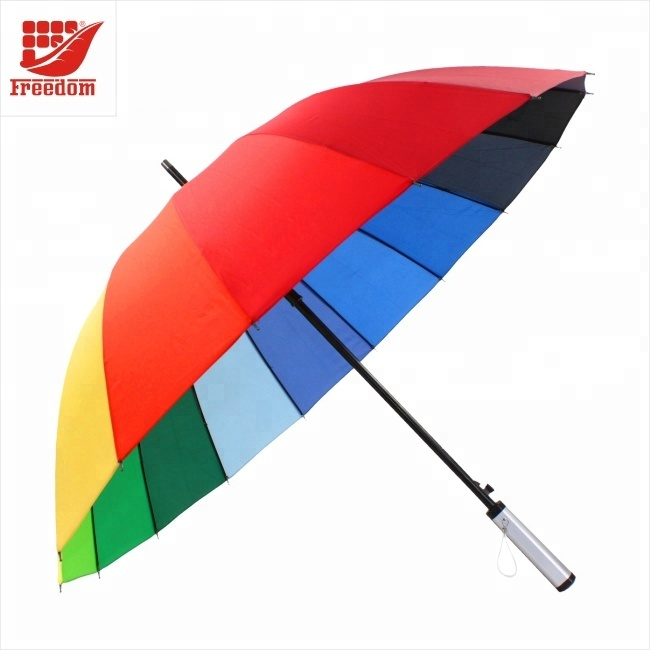Customized LOGo Printed Umbrella with Wooden Handle