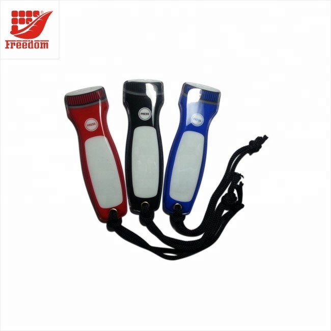Hot Sale Multi-function PVC LED Keychain Magnetic Flashlight
