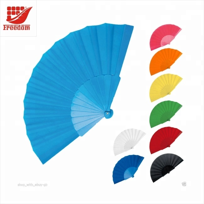 Promotional Customized Printing Plastic Hand Folding Fan
